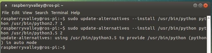 update alternatives table for python